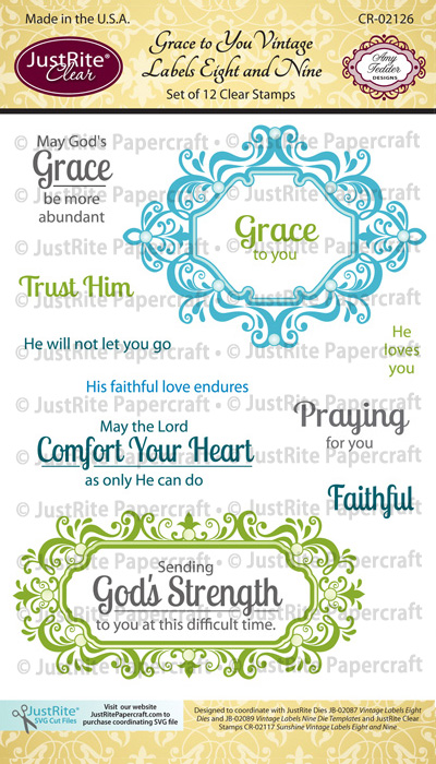 CR-02126_Grace_to_You_Vintage_Labels_Eight_and_Nine_Clear_Stamps