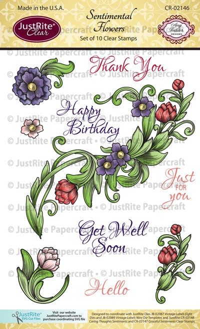 CR-02146_Sentimental_Flowers_Clear_Stamps