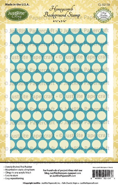 CL-02158_Honeycomb_Cling_Background_Stamp