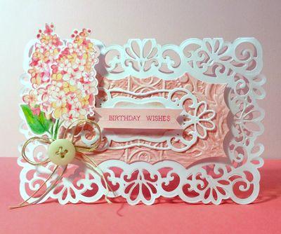 JustRite Lilac Blossom Birthday Card