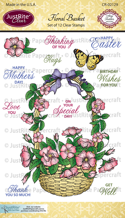 CR-02129_Floral_Basket_Clear_ Stamps