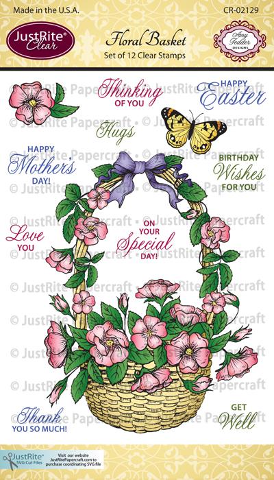 CR-02129_Floral_Basket_Clear_ Stamps