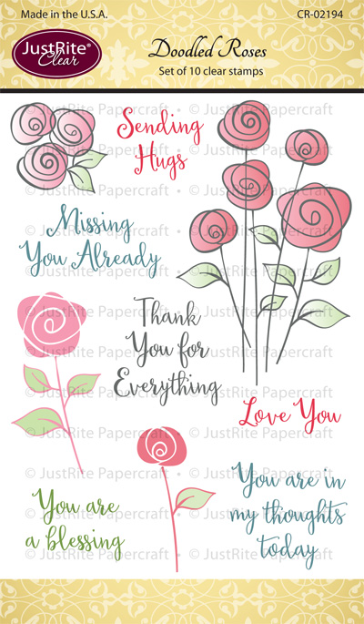 CR-02194_Doodled_Roses_Clear_Stamps