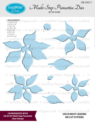 DIE-050  Multi-Step_Poinsettia_Dies