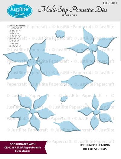 DIE-050  Multi-Step_Poinsettia_Dies