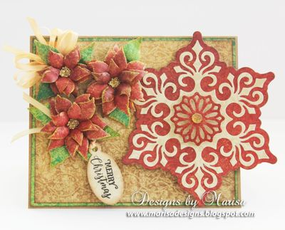JustRite_Papercraft_Poinsettia_Dies_Mini_Christmas_Tags_Cards_Marisa_Job