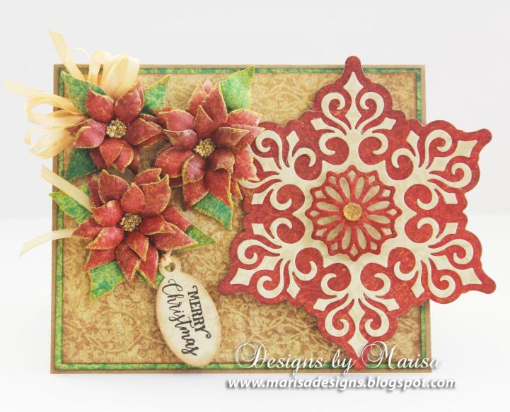 JustRite_Papercraft_Poinsettia_Dies_Mini_Christmas_Tags_Cards_Marisa_Job