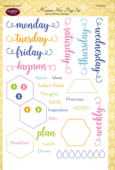 CR-05072_Planner_Hex_Page_Set_Clear_Stamps