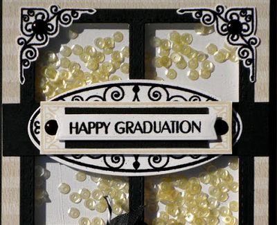Happy Grad sentiment close up