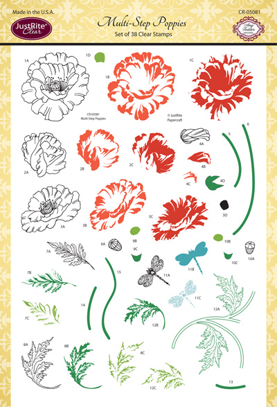 CR-05081_Multi_Step_Poppies_Clear_Stamps