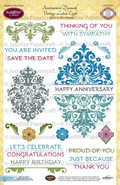 CR-02141_Sentimental_Damask_Vintage_Labels_Eight_Clear_Stamps