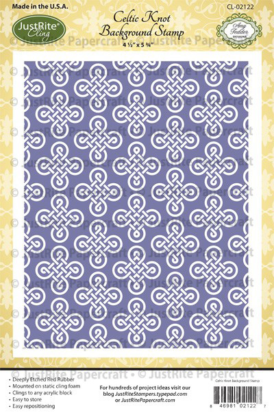 CL-02122_Celtic_Knot_Cling_Background_Stamp