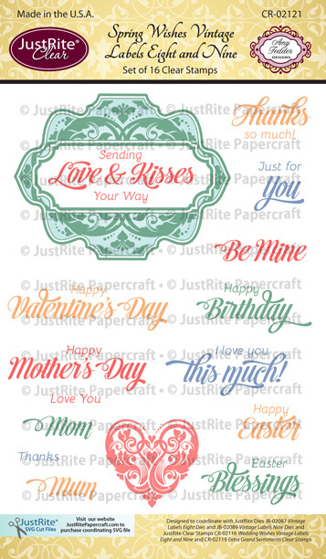 CR-02121_Spring_Wishes_Vintage_Labels_Eight_Clear_Stamps