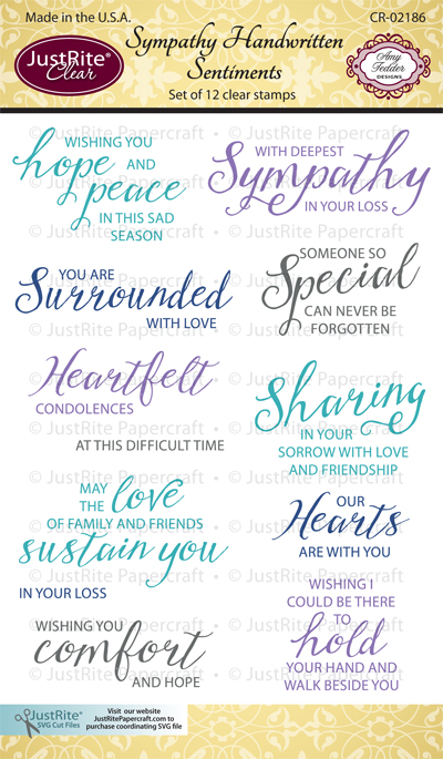 CR-02186_Sympathy_Handwritten_Sentiments_Clear_Stamps