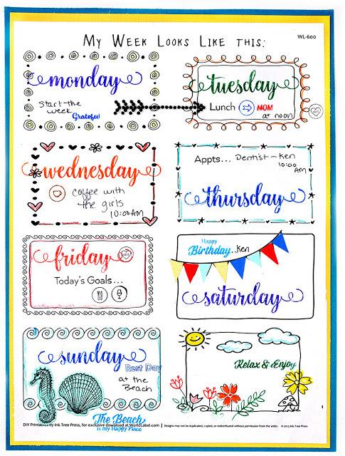 My_Week_Planner_Hex_Page_Set