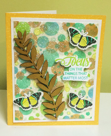 Kellie Fortin Focus on What Matters Most Bokeh Card