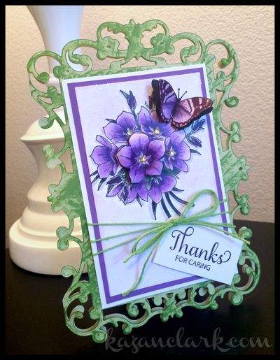 Sweet Posies Thank you card
