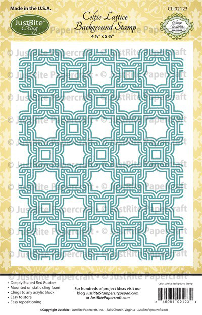 CL-02123_Celtic_Lattice_Cling_Background_Stamp