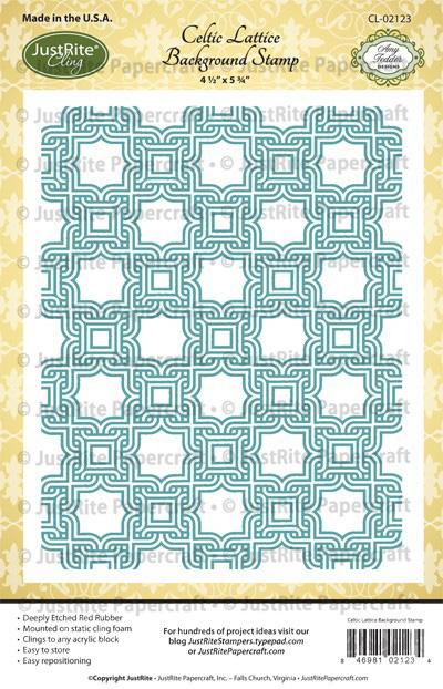 CL-02123_Celtic_Lattice_Cling_Background_Stamp