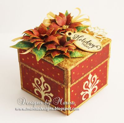 JustRite_Papercraft_Poinsettia_Dies_Mini_Christmas_Tags_Gift_Box_Marisa_Job