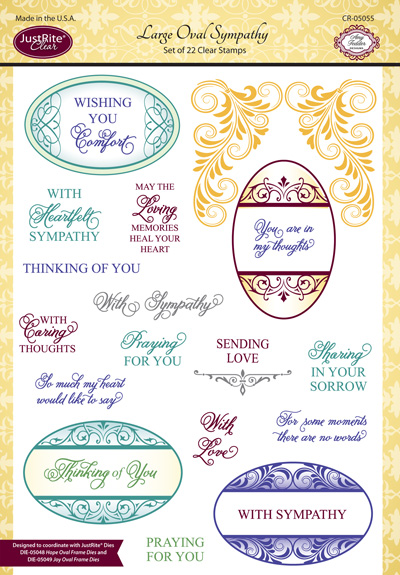 CR-05055_Large_Oval_Sympathy_Clear_Stamps
